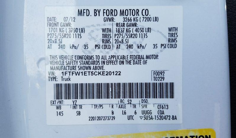 2012 FORD F150 SUPERCREW FX-4 4X4 full